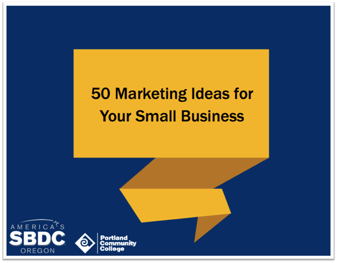 50 Marketing Ideas for Your Small Business