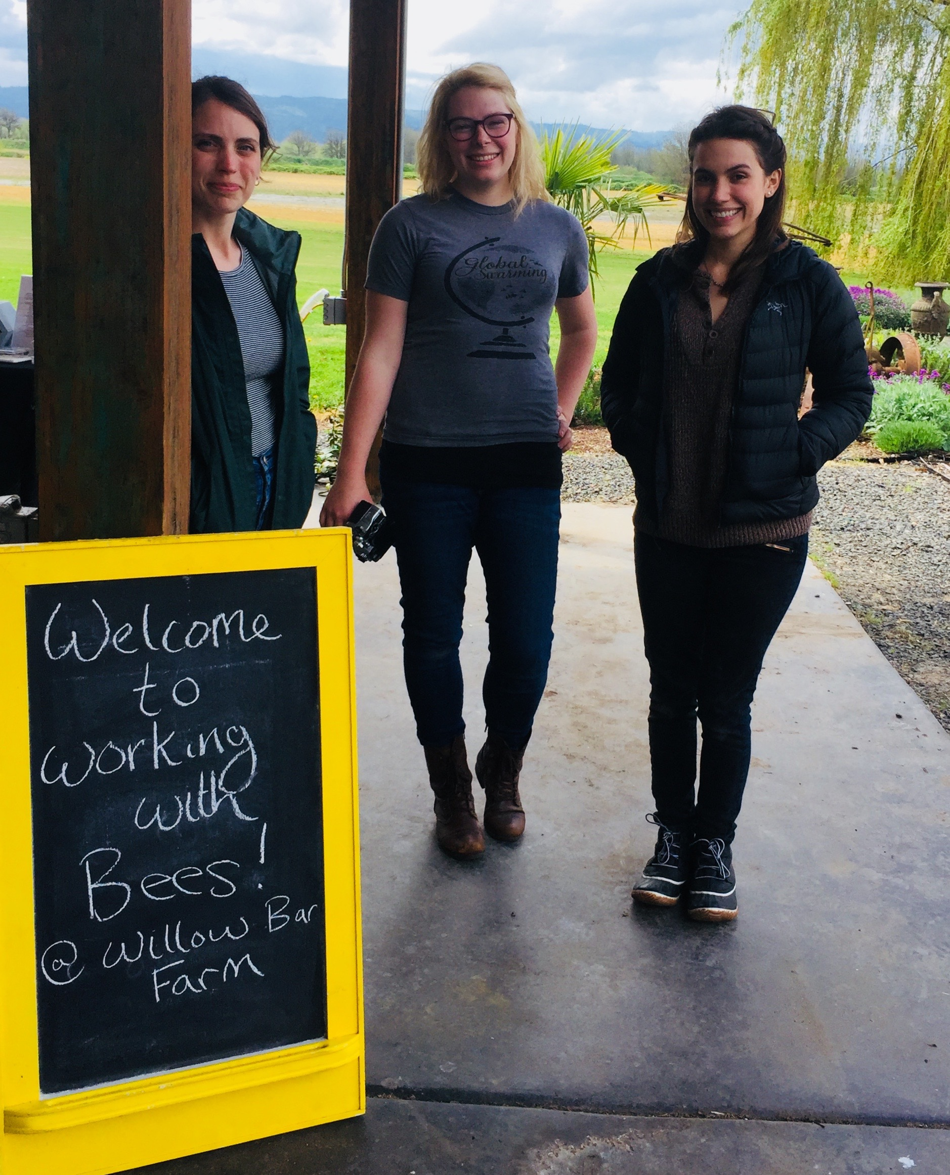 Bee and Bloom owners Rebekah, Emily and Emma