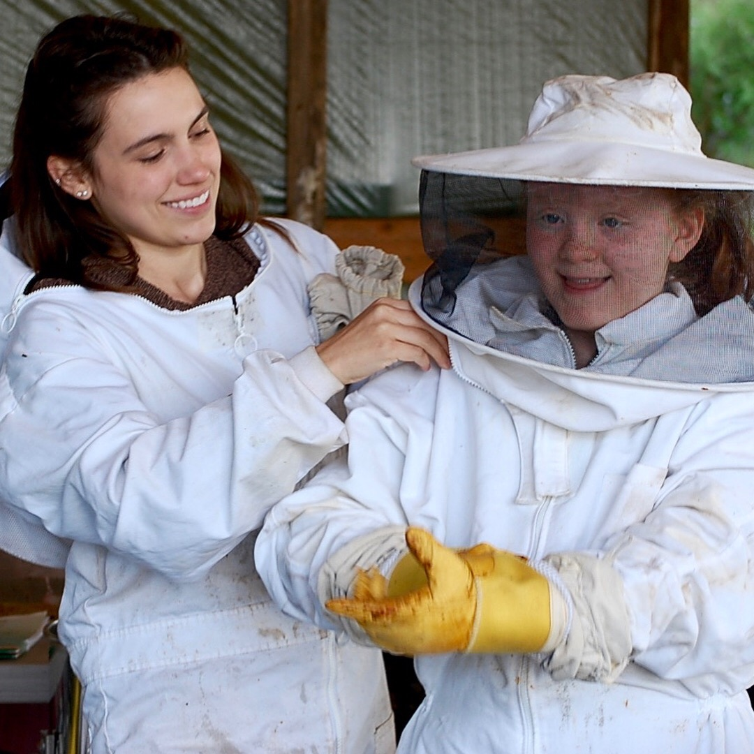 Suiting up to teach about bees