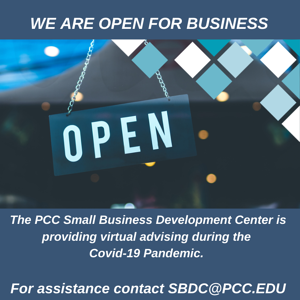 PCC SBDC is Open For Business