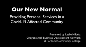 New Normal 2 - personal services