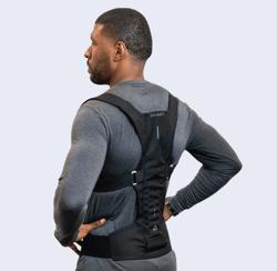 man wearing DorsumTech back support